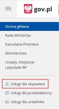 usługi dla obywatela gov.pl